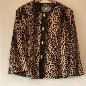Cheetah blazer size large